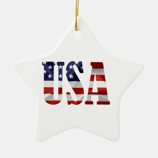 USA CERAMIC STAR ORNAMENT
