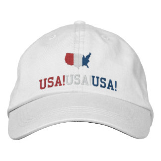 USA Chant Patriotic Sports Embroidered Baseball Cap