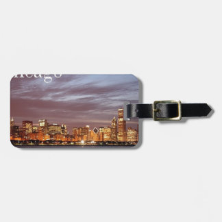 USA Chicago Skyline (add) (St.K) Luggage Tag