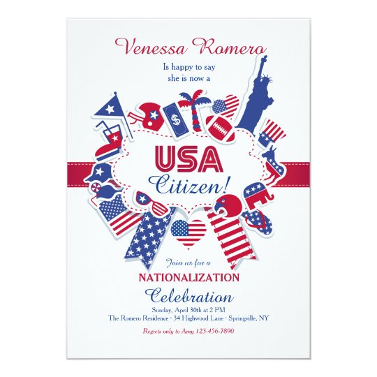 USA Citizen Nationalization Party Invitation