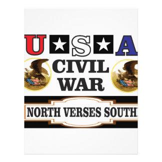 USA civil war north verses south Letterhead