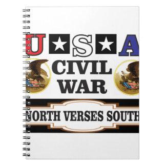 USA civil war north verses south Notebooks