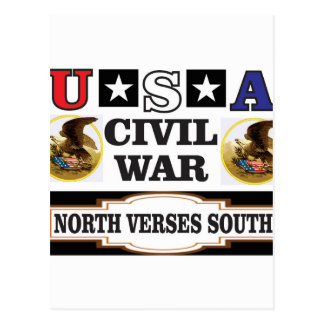 USA civil war north verses south Postcard