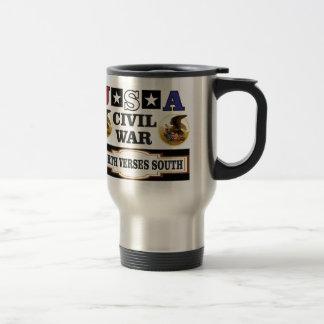 USA civil war north verses south Travel Mug