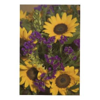 USA, close-up of bridal flower arrangement, Wood Prints