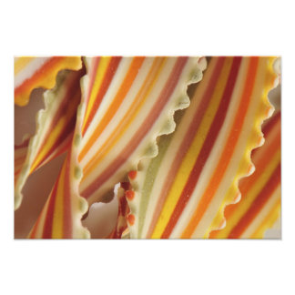 USA. Close-up of dried rainbow pasta noodles. Photograph