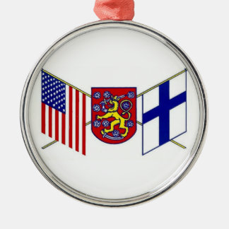 USA-Coat of Arms-Finland Metal Ornament