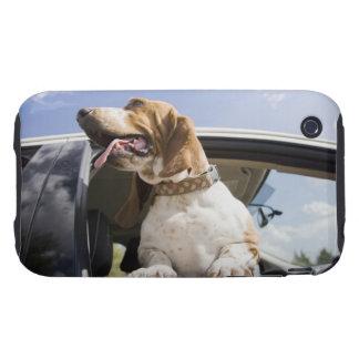USA, Colorado, dog looking through car window 2 Tough iPhone 3 Cases