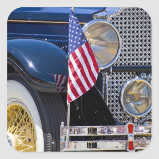 USA, Colorado, Frisco. Vintage Packard auto Square Sticker