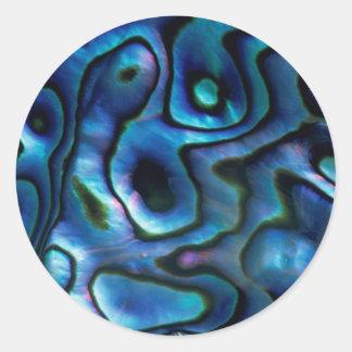 USA, Colorado, Lafayette. Abalone shell Round Sticker