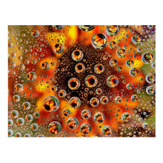 USA, Colorado, Lafayette. Water bubbles on glass 1 Postcard