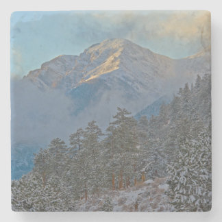 USA, Colorado, Mountains In Estes Park Stone Coaster