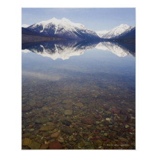 USA, Colorado, Mountains reflected in lake Poster