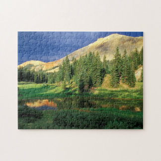 USA, Colorado. Red Mountain at sunset Jigsaw Puzzle