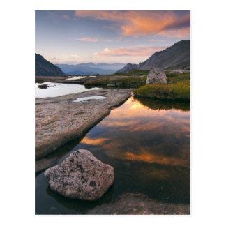 USA, Colorado, Rocky Mountain NP.  Sunrise in Postcard