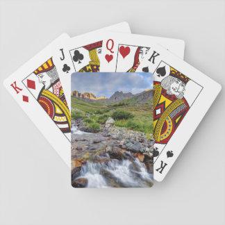 USA, Colorado. Sunrise On Stream 2 Poker Deck