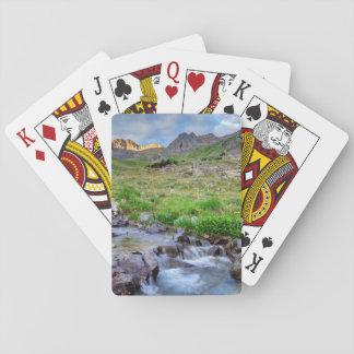 USA, Colorado. Sunrise On Stream Playing Cards