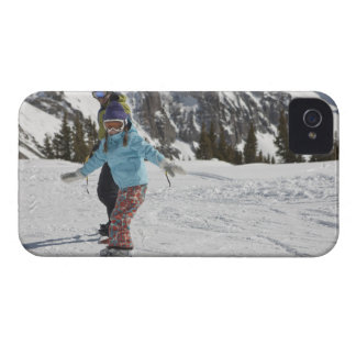 USA, Colorado, Telluride, Father and daughter 2 iPhone 4 Cases