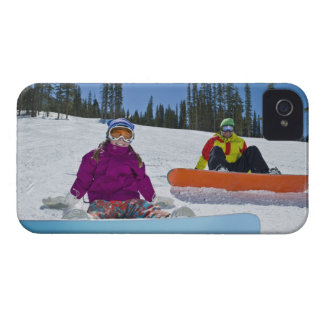 USA, Colorado, Telluride, Father and daughter 3 iPhone 4 Case-Mate Cases
