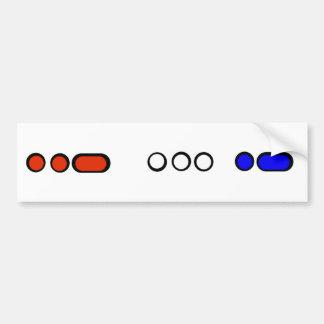 USA Colorful Morse Code Bumper Sticker