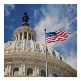 USA, Columbia, Washington DC, Capitol Building Poster