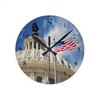 USA, Columbia, Washington DC, Capitol Building Wall Clock