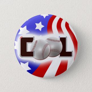 USA Cool Baseball Shine 2 Inch Round Button