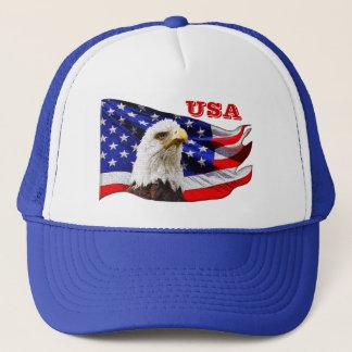 USA Cool Eagle and American Flag Snapback Hat
