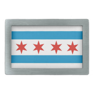 usa country city town chicago flag rectangular belt buckle