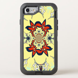 USA Cream Pattern design OtterBox Defender iPhone 7 Case