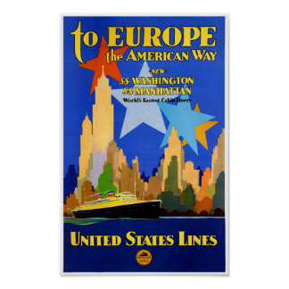 USA Cruise Lines Vintage Poster Restored