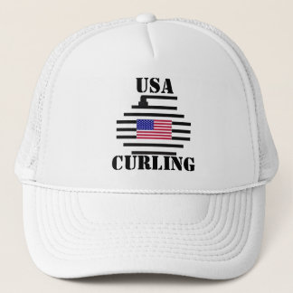 USA CURLING TRUCKER HAT