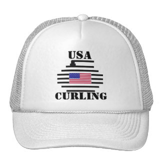 USA CURLING TRUCKER HAT