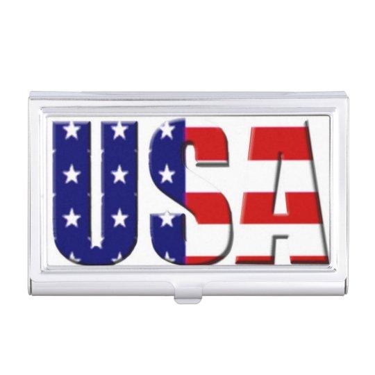 USA Custom Logo Business Card Holder