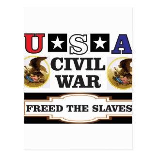 usa CW freed the slaves Postcard