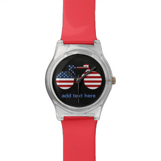 USA cycling personalized text Watch