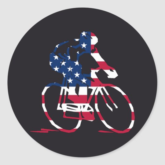 USA Cyclist Classic Round Sticker