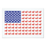 "USA Dachshund 5"" X 7"" Invitation Card"