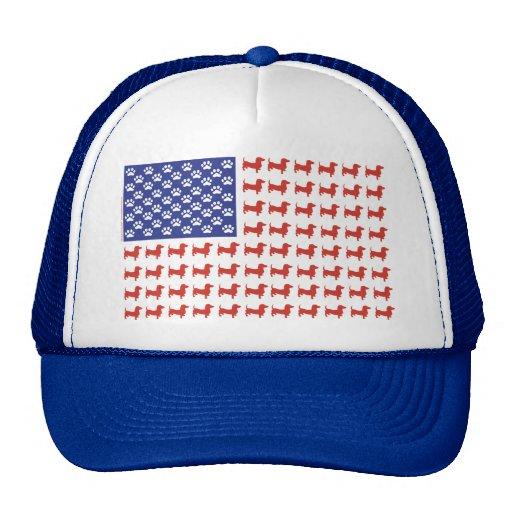 USA Dachshund Trucker Hat