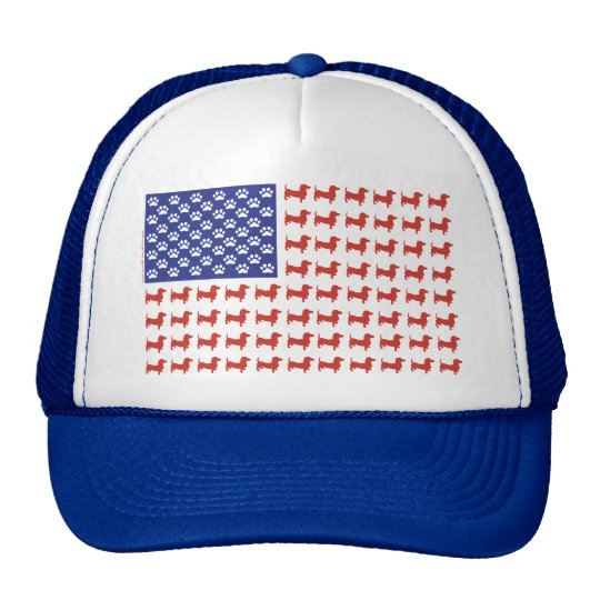 USA Dachshund Trucker Hat