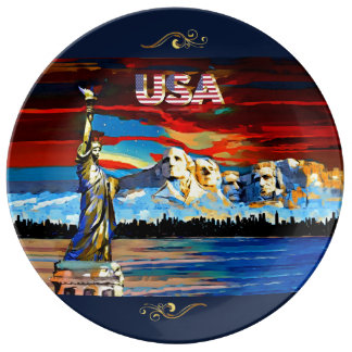 USA Decorative Porcelain Plate