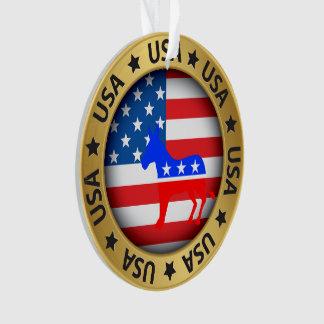 USA Democrat Ornament