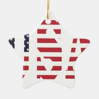 USA Design Ceramic Star Ornament
