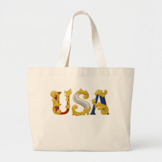 USA Design Large Tote Bag