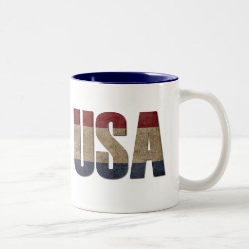 USA Distressed Mug