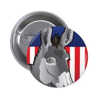 USA Donkey, Democrat Pride 2 Inch Round Button