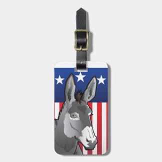 USA Donkey, Democrat Pride Luggage Tag
