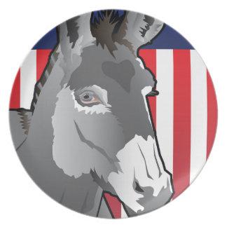 USA Donkey, Democrat Pride Plate