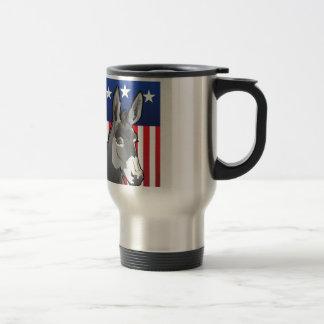 USA Donkey, Democrat Pride Travel Mug
