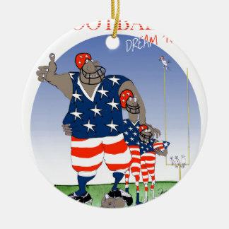 USA dream team, tony fernandes Ceramic Ornament